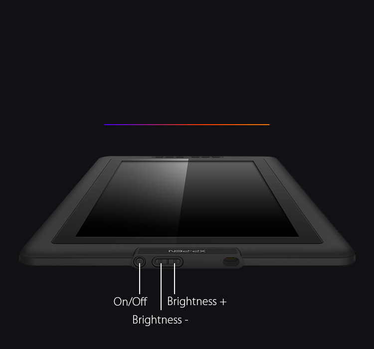 Artist 15.6 animation tablet features an easily accessible brightness adjustment button